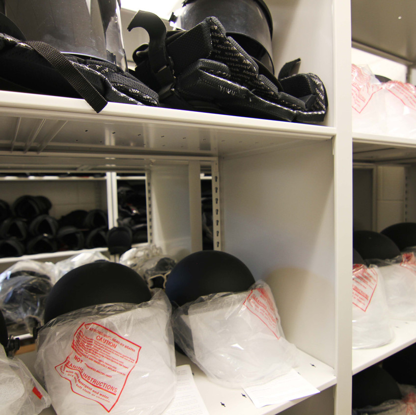 Riot Equipment Storage at Wake County Detention Center, North Carolina