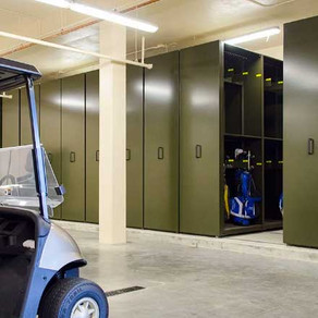 GOLF BAG STORAGE SYSTEM FOR COUNTRY CLUBS AND RESORTS