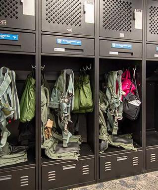 Fighter Pilot Gear Lockers