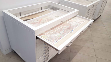 Map Cabinet Display Top Flat-file Cabine