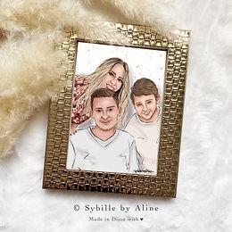portrait, couple, illustrations, illutra