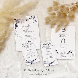 mariage, faire-part, wedding, sybillebya