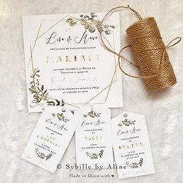 sybillebyaline, fairepart, mariage, wedd