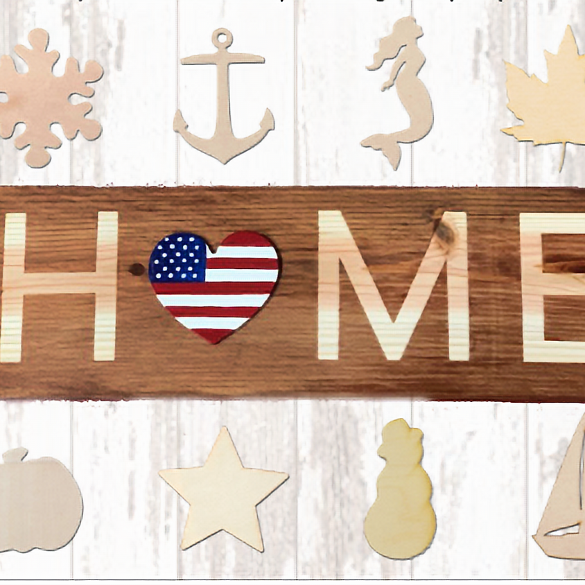 Year-round HOME wood decor