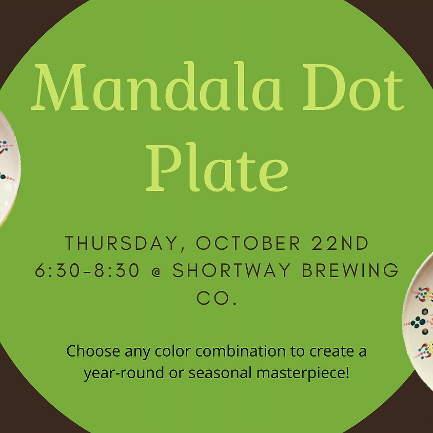 Brews & Brushes: Mandala Dot Plate