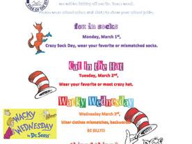 Dr Seuss Week February 26 - March 4