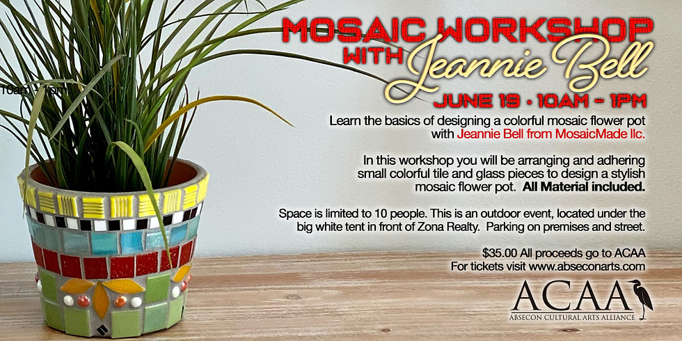 Mosaic Workshop With Jeannie Bell