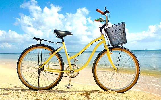 Bike Rentals, Best Bikes Cozumel standard beach cruiser bike bycicle. Cruise ship, Hotel bike rentals