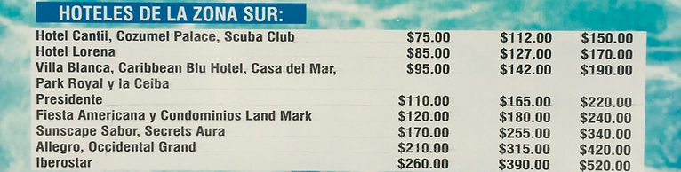 Cruise ship, Hotel bike rentals. Free Taxi Fare. Cruise terminals Puerta Maya, International, Punta Langosta Piers.