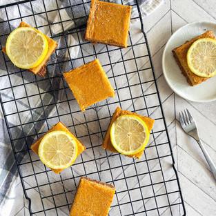 Mango Lemon Shortbread Bars
