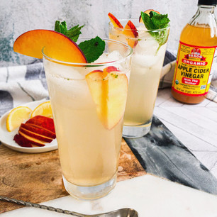 Peach ACV Refresher Mocktail