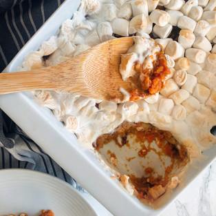 Apple Cider Sweet Potato Casserole