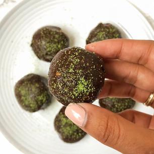 Chocolate Matcha Balls