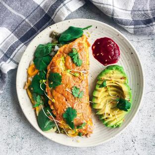 Zucchini Nopalitos Omelette