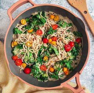 Vegan Cauliflower Alfredo Pasta
