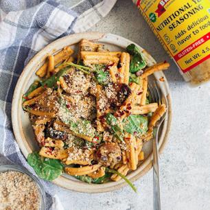 Vegan Nutritional Yeast Garlic Pasta