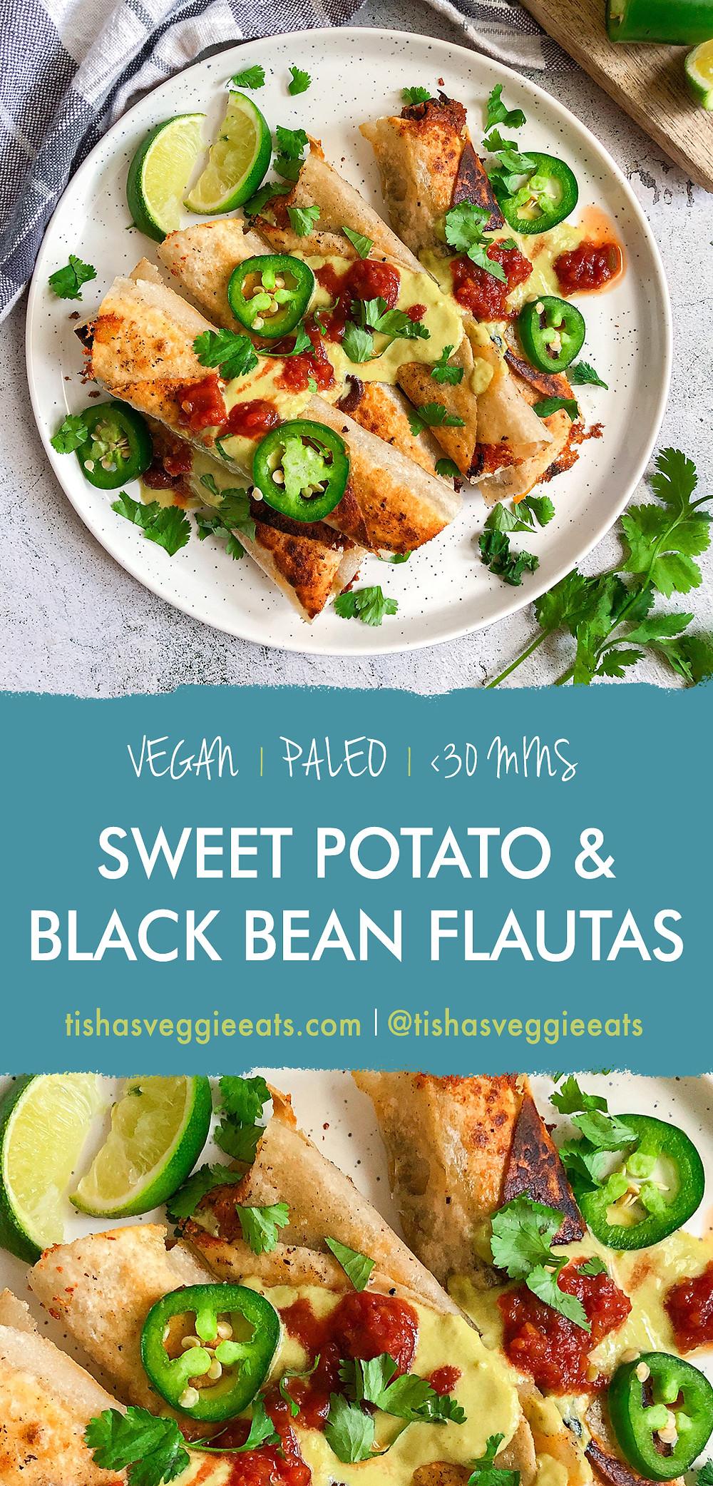 Vegan Chorizo Jicama Tacos with Creamy Jalapeno Salsa - Pinterest Image