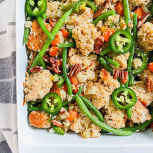 Healthy Vegetarian Cornbread Stuffing