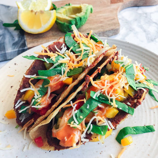 Crunchy Black Bean Veggie Tacos