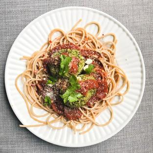Spaghetti & Zucchini Meatballs