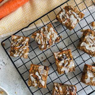 Carrot Banana Bread Oatmeal Bars