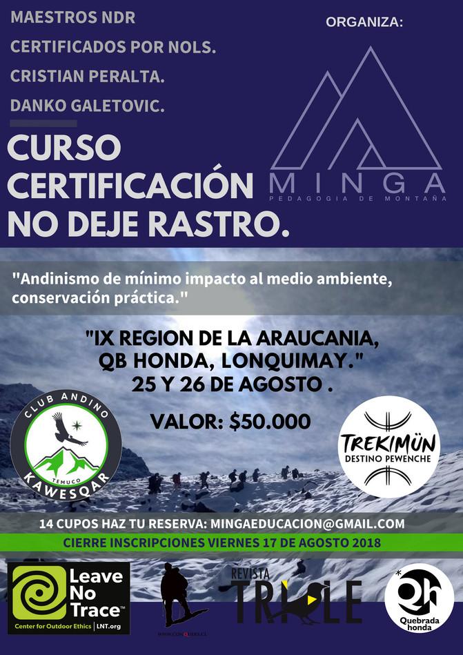 CURSO NDR 24 , 25 Y 26 IX REGION DE LA ARAUCANIA.