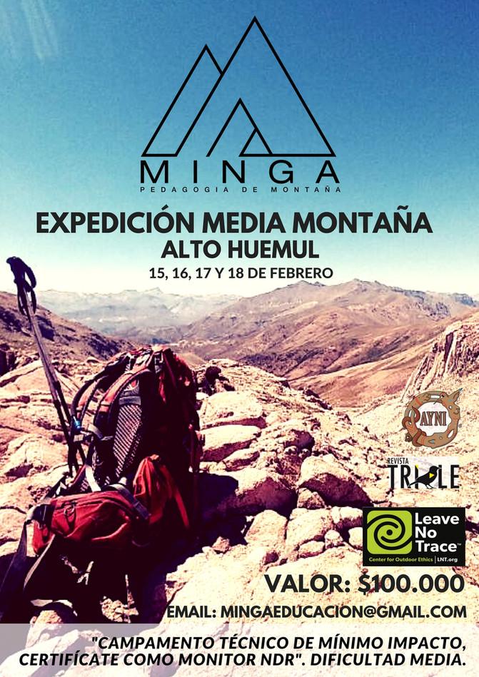 """CIERRE DE INSCRIPCIÓN VIERNES 9 DE FEBRERO """"Curso Expedición Media Montaña y Certificacion de M"""