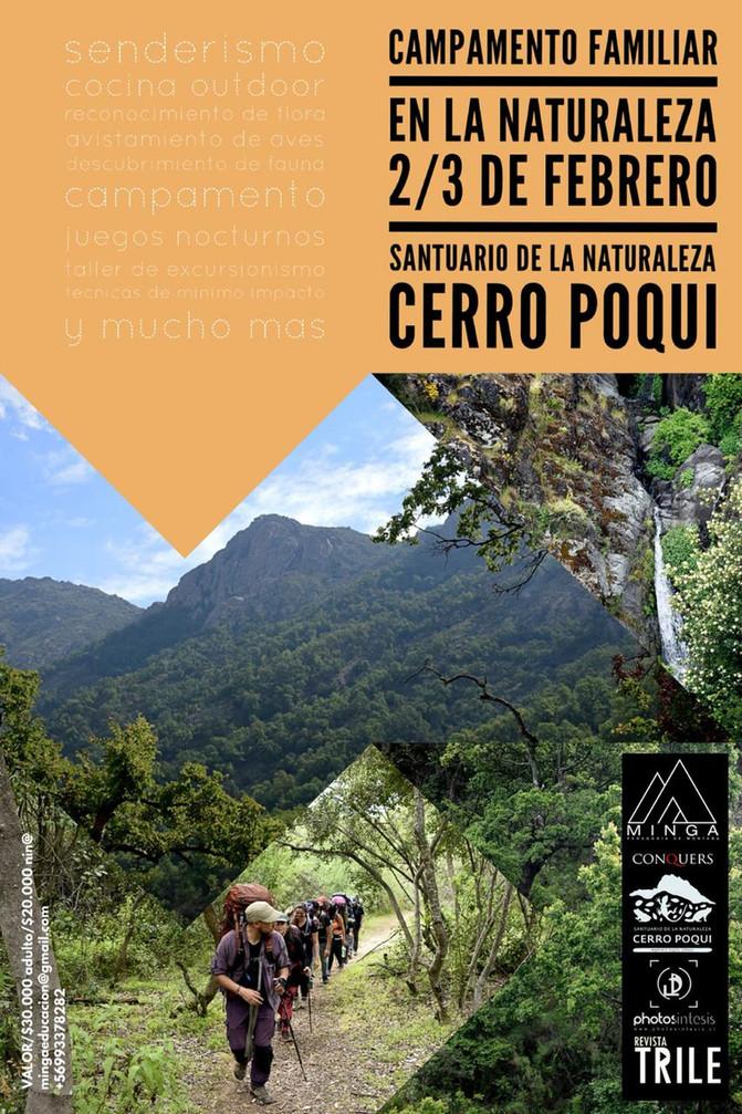 """2 Y 3 DE FEBRERO, SANTUARIO DE LA NATURALEZA CERRO POQUI. """"Campamento Familiar Vive la Naturale"""