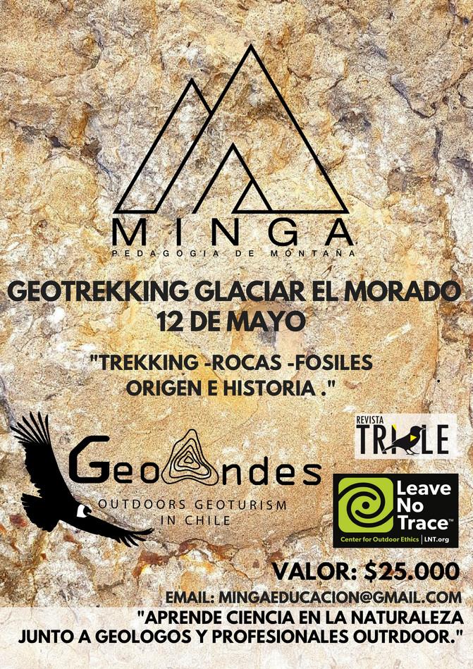 GEOTREKKING GLACIAR EL MORADO   12 DE MAYO 2018.