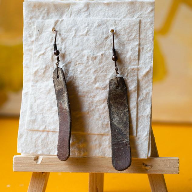 oorbellen keramiek  prijs: 14 euro