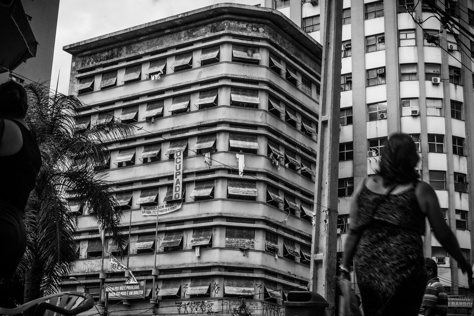 Marielle Franco Occupation (named after a councilwoman who was murdered in Rio de Janeiro), located in the center of Recife city, is home to 70 families. Many of them came from other occupations across the city or from favelas where the rent was too high. The occupation is led by women, and it has five stories. Each floor of the building is coordinated by a woman who guarantees everyone's safety and well-being.