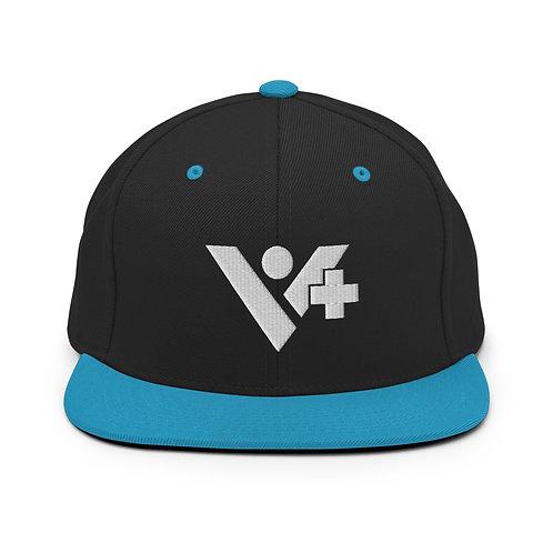 Snapback V+ Hat White Logo