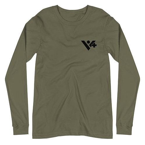 Unisex Long Sleeve Recharged Tee / Black Logo