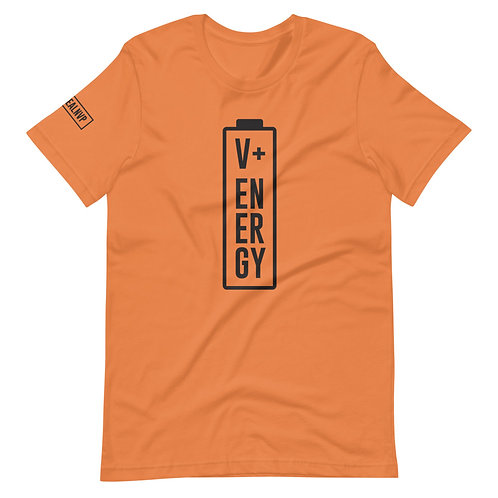 Short-Sleeve Unisex Energy T-Shirt / Black Logo