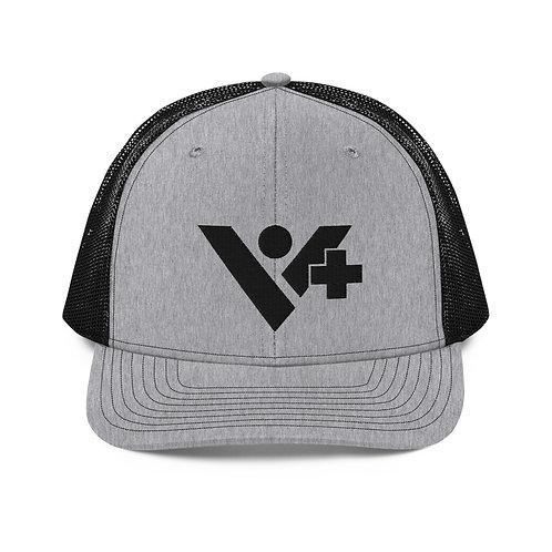 V+ Trucker Cap Black Logo