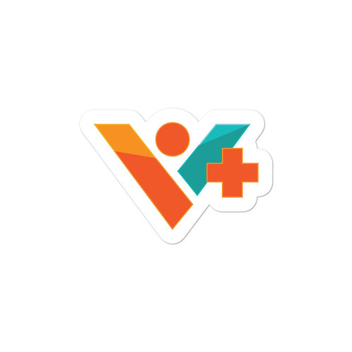 V+ Logo Sticker