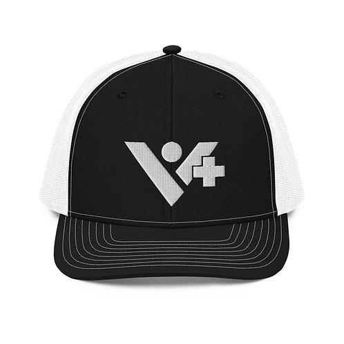 V+ Trucker Cap White Logo