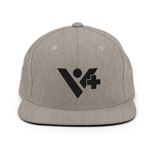 Snapback V+ Hat Black Logo