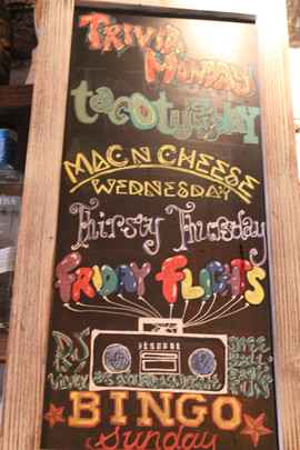 Specials every night of the week!