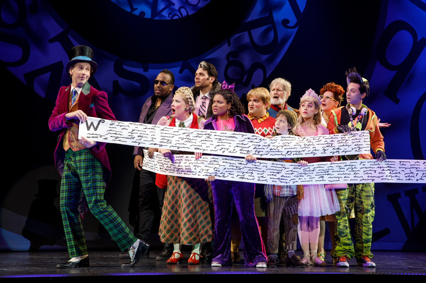 The cast of Roald Dahl's CHARLIE AND THE CHOCOLATE FACTORY.