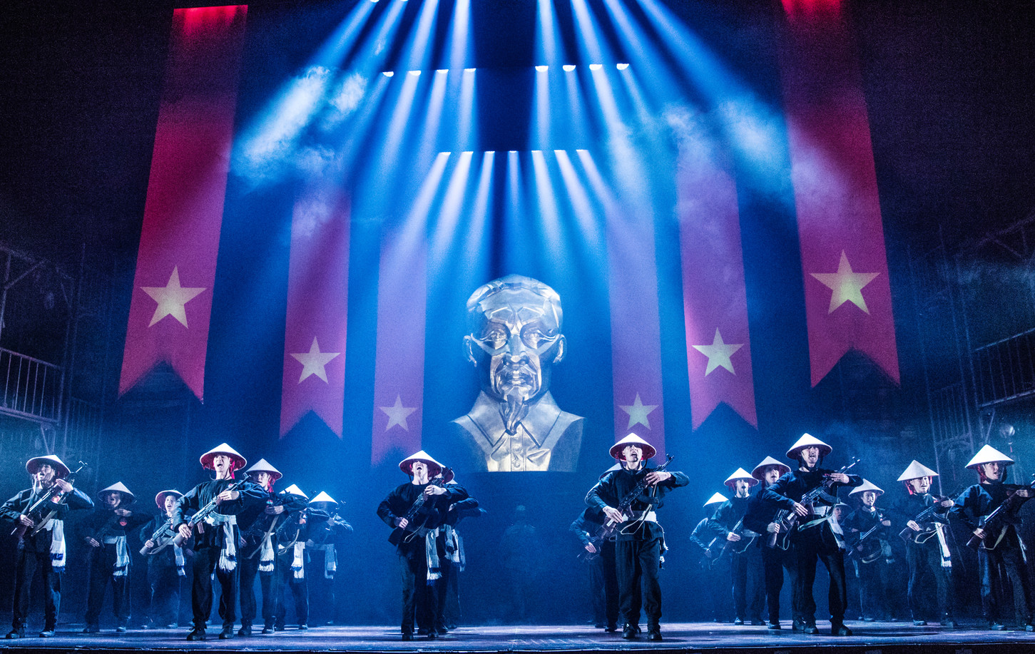 """The Company of the North American Tour of MISS SAIGON performs """"Morning of the Dragon'"""
