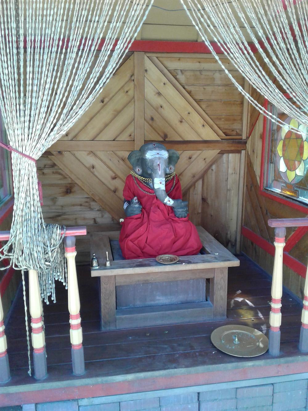 ~Lord Ganesha welcoming visitors to the Farm/Ashram~