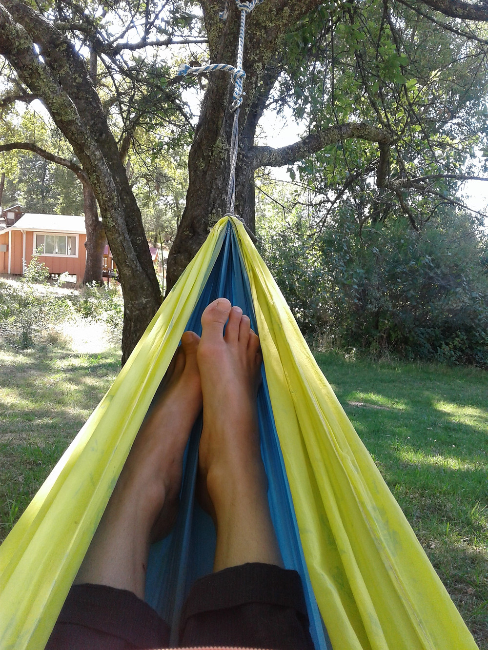 Reading or napping in the hammocks was also a post Bhakti yoga practice. Yoga Nidra