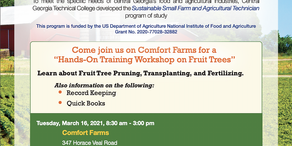 Ag Tech To Success Presents a Beginners course in Pruning, Planting, and Fertilizing Fruit Trees