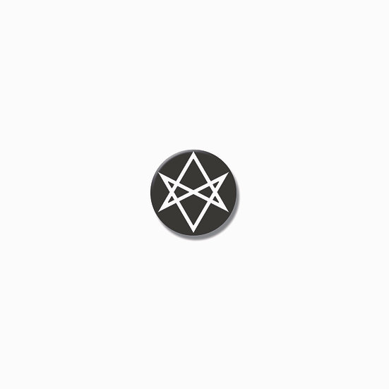 Button pin Unicursal hexagram
