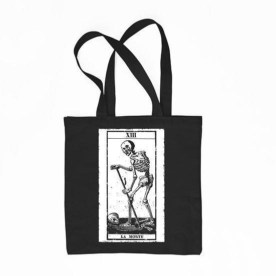 La Morte black cotton tote bag