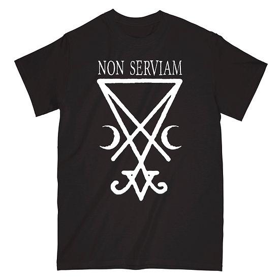 Non Serviam black T-shirt