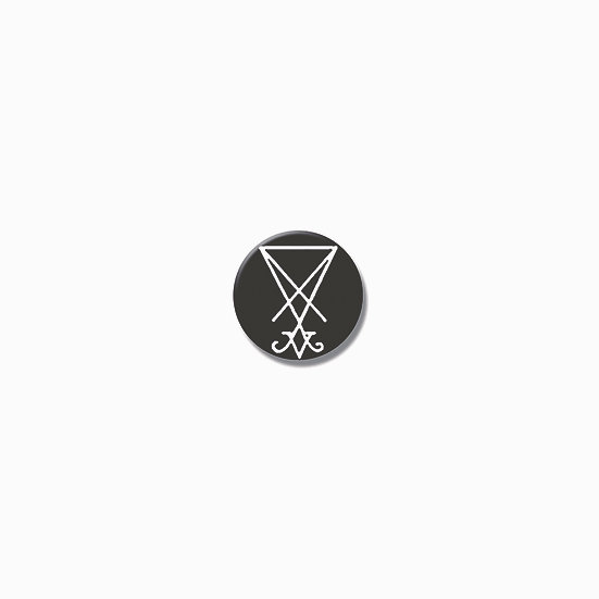 Button pin sigil of Lucifer