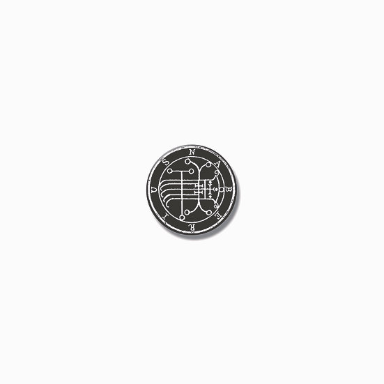 Button pin Naberius Ars Goetia demon
