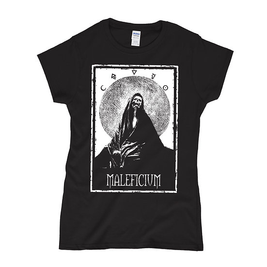 Maleficium women black T-shirt